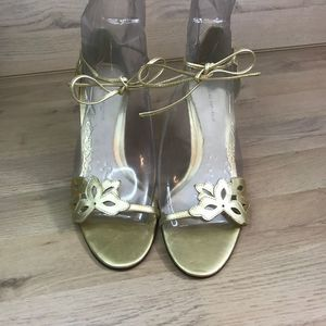 Banana Republic gold strap flower tieup 7